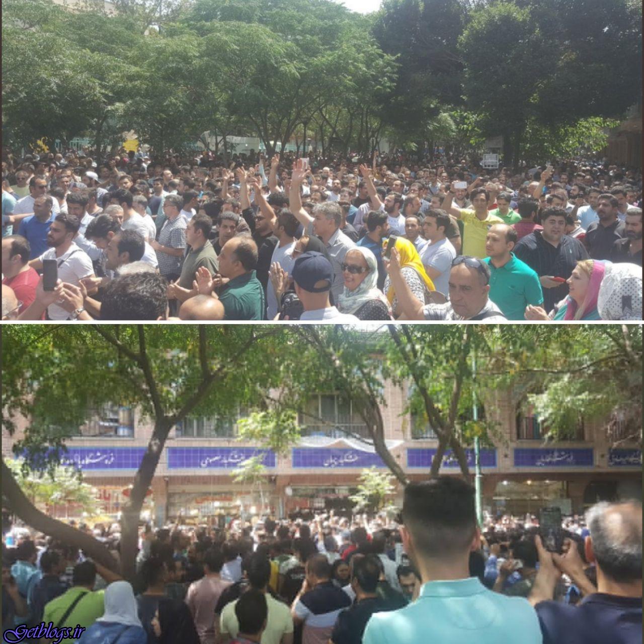 عکس) + بازاریان پایتخت کشور عزیزمان ایران در اعتراض به رکود و قیمت ارز دست از کار کشیدند (