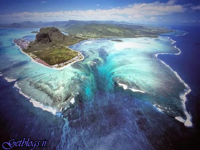 تصاویر) + آبشاری در زیر دریا (