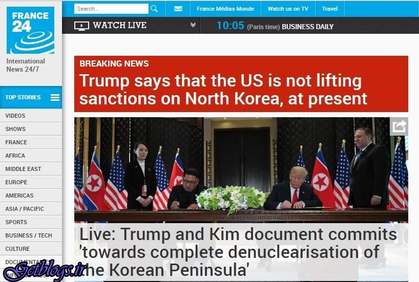 تصویر ، ترامپ اعلام کرد فعلا از لغو تحریمهای کره خبری نیست