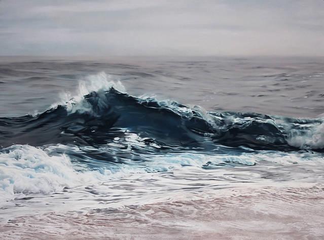تصاویر) + نقاشیهای شگفتانگیزی از یخ و آب با مداد شمعی (