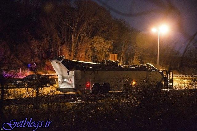 ۴۳ مصدوم در اتفاق برخورد اتوبوس با پل هوایی در نیویورک