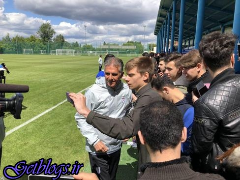 تمرین تیم ملی فوتبال در روسیه