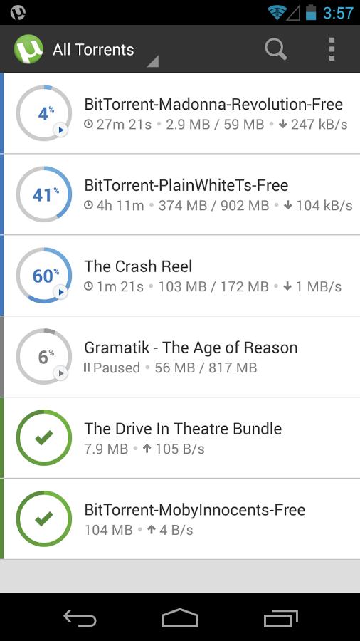 دانلود فایلهای تورنت , دانلود µTorrent