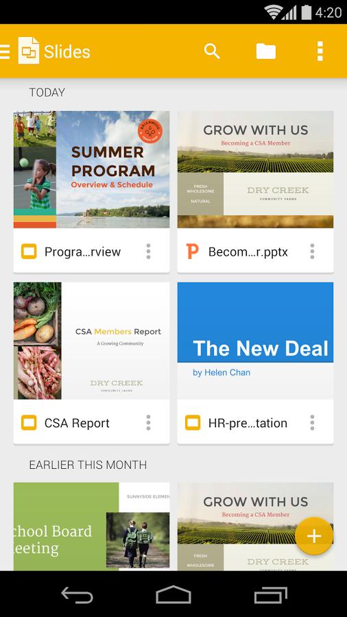 نرم افزار جایگزین پاورپوینت از شرکت گوگل , دانلود Google Slides 1.7.192.02