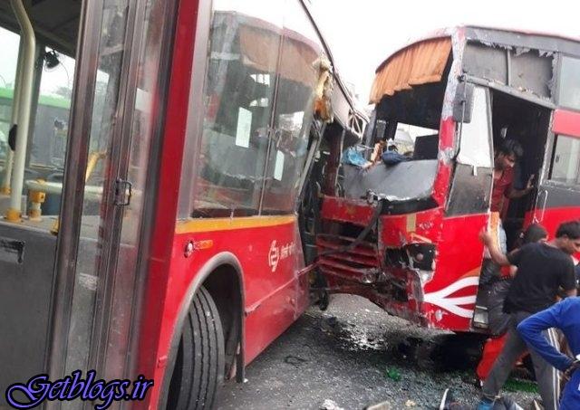 ۲۲ کشته و زخمی در تصادف دو اتوبوس در هند